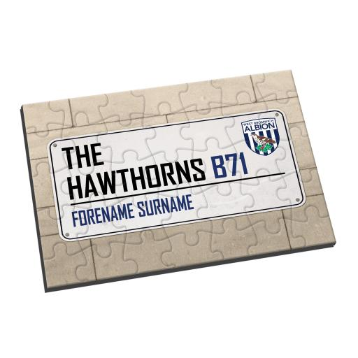 West Bromwich Albion FC Street Sign Jigsaw