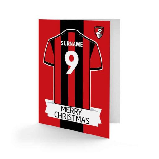 AFC Bournemouth Shirt Christmas Card