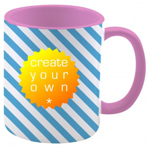Create Your OwnMug - Two Tone Pink - Ceramic - 11oz