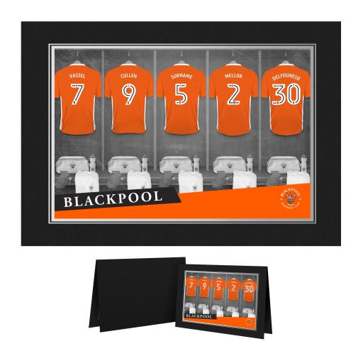 Blackpool FC 9x6 Dressing Room Photo Folder