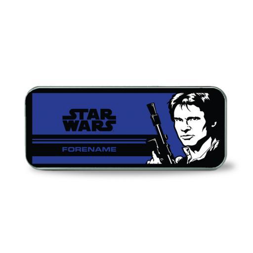 Star Wars Han Solo Pop Art Silver Pencil Tin