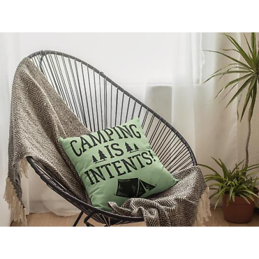 Camping Is Intents Cushion Cover-Decorative Linen