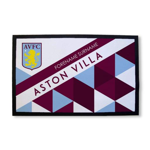 Aston Villa FC Patterned Door Mat
