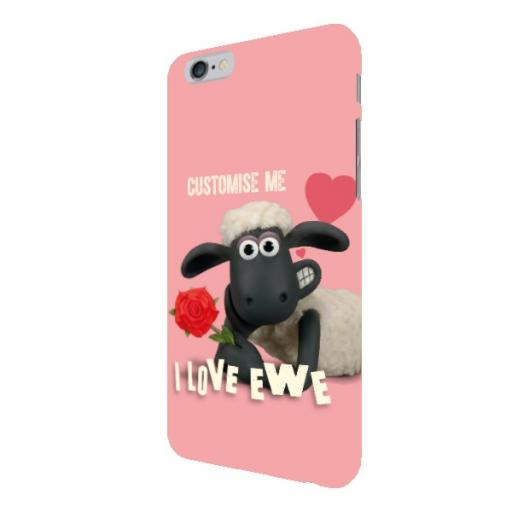 Aardman Shaun The Sheep Valentines 'I Love Ewe' iPhone 6/6s Clip Case