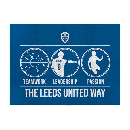 Leeds United FC Way Blanket (100cm X 75cm)