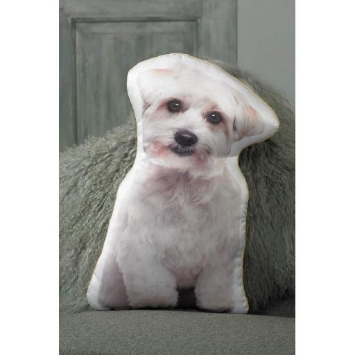 Maltese Shaped Cushion Perfect Gift For Dog Lovers