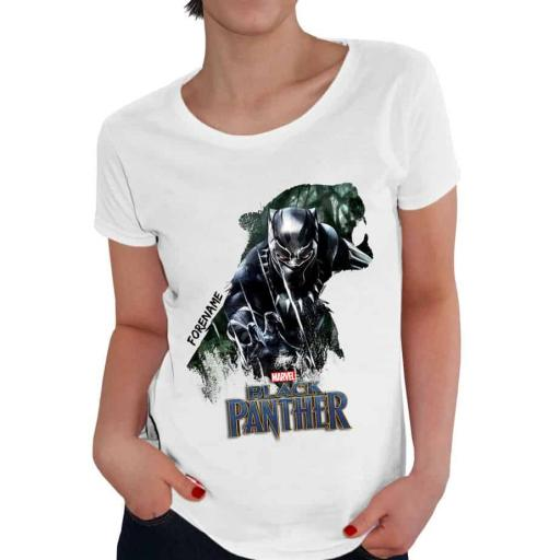 Marvel Black Panther Double Exposure Ladies T-Shirt