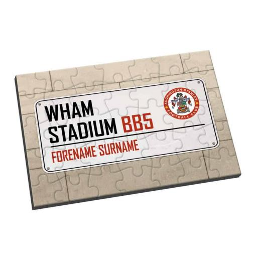 Accrington Stanley Street Sign Jigsaw