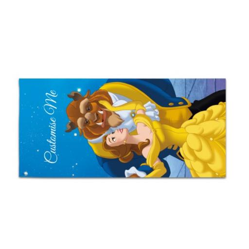 Disney Beauty and the Beast Balcony Scene Large Towel