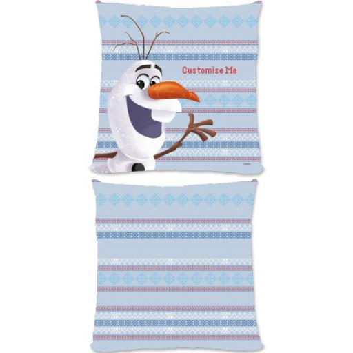 Disney Frozen Christmas Olaf Large Fiber Cushion