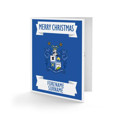 Bury FC Crest Christmas Card