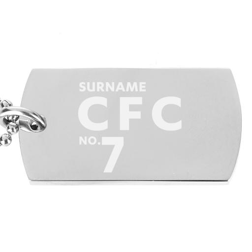 Chelsea FC Number Dog Tag Pendant