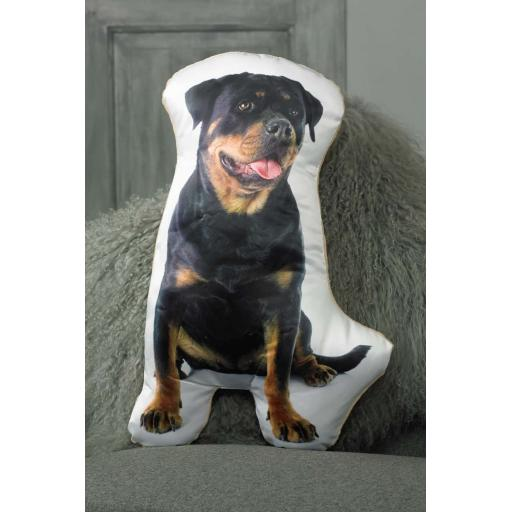 Rottweiler Shaped Cushion Perfect Gift For Dog Lovers
