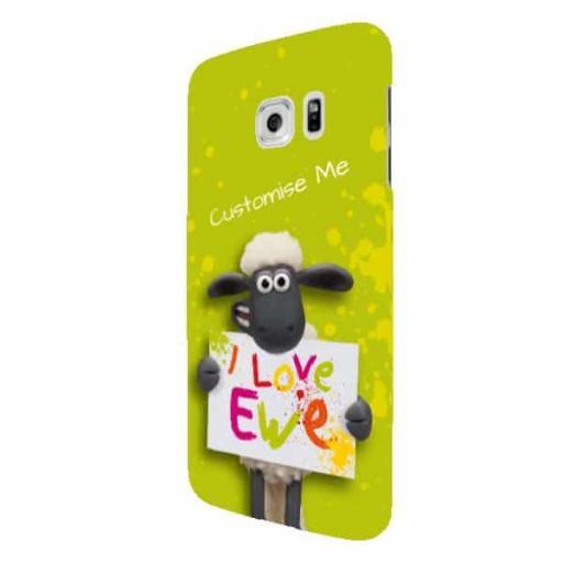 Shaun The Sheep Valentines Print Samsung Galaxy S7 Edge Clip Case