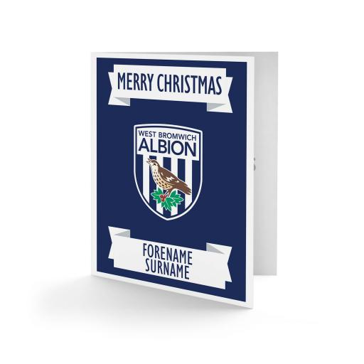 West Bromwich Albion FC Crest Christmas Card