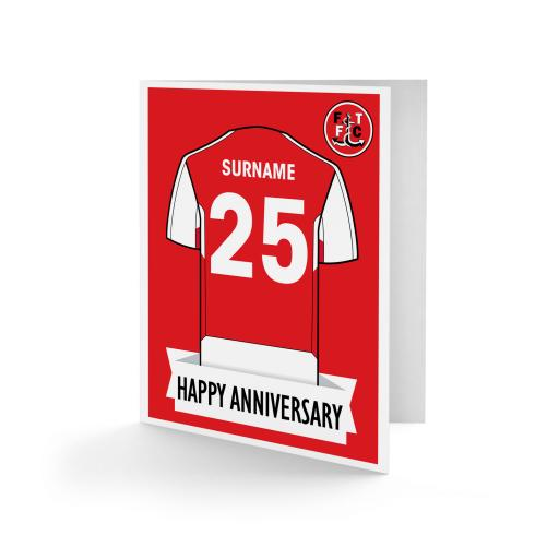 Fleetwood Town FC Shirt Anniversary Card