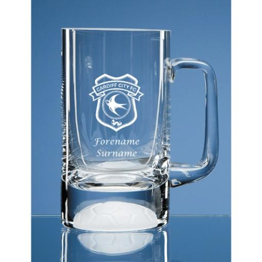 Cardiff City FC Crest Half Pint Ball Base Tankard