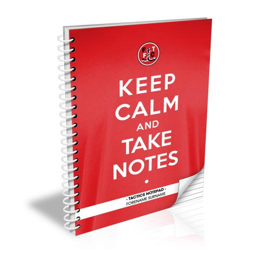 Fleetwood Town FC Keep Calm Notebook