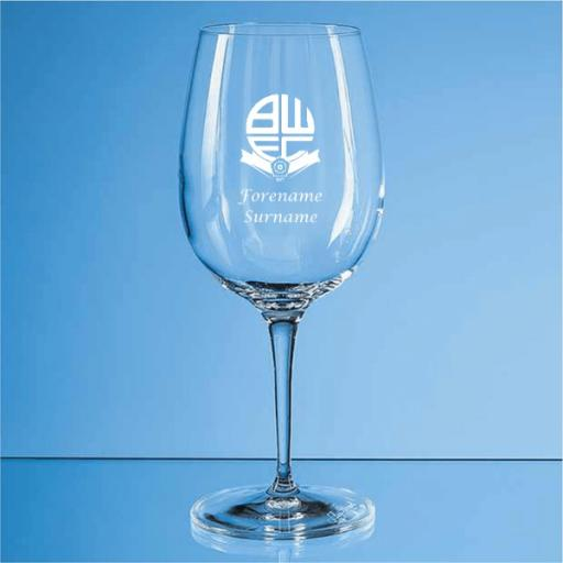 Bolton Wanderers FC Crest Allegro Wine Glass