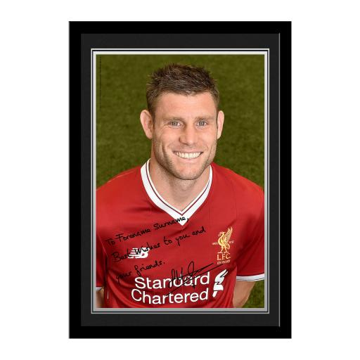 Liverpool FC Milner Autograph Photo Framed