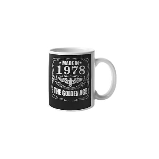 Made in 1978 The Golden Age 11oz Mug Ceramic Novelty 40th Birthday Gift