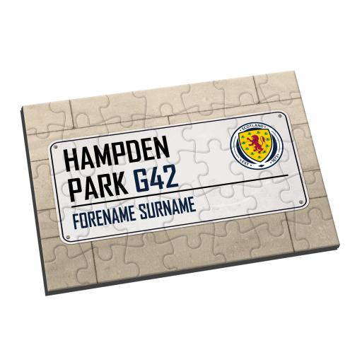 Scotland Street Sign Jigsaw