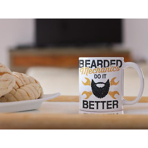 Bearded Mechanics Do It Better 11 oz Mug Ceramic Novelty Design Gift For Men