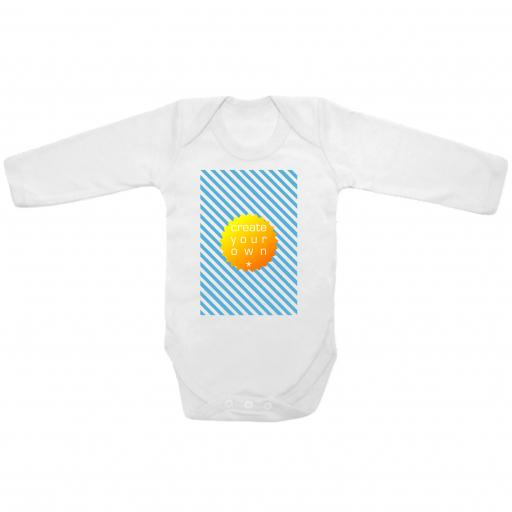 Create Your Own-Baby Grow - White - Longsleeved - Printed Front Panel - 3-9 Month