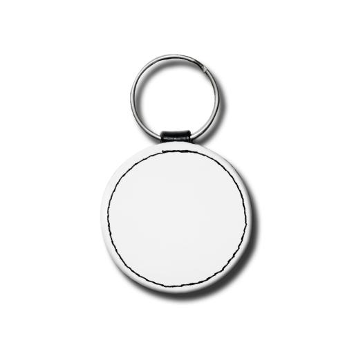 Create Your Own Key Ring - Faux Leather - Matt - Circular - Single Sided Print