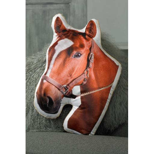 Chestnut Horse Shaped Cushion Perfect Gift For Horse Lovers