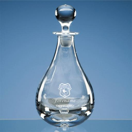 Cardiff City FC Crest Wine Decanter