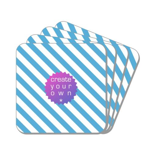 Create Your OwnCoaster - Square - Wooden Hardboard - 4 pack - 9cm x 9cm