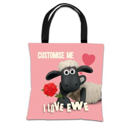 Aardman Shaun The Sheep Valentines 'I Love Ewe' Tote Bag