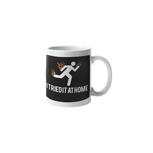 I Tried It At Home 11 oz Mug Ceramic Novelty Gift Funny Scientist Humor