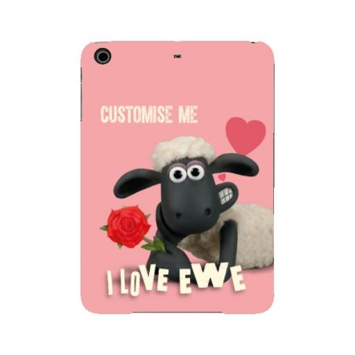 Aardman Shaun The Sheep Valentines 'I Love Ewe' iPad Mini 2/3 Clip Case