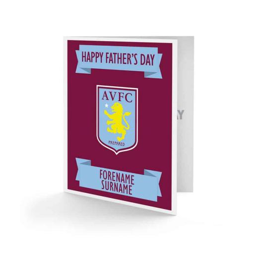 Aston Villa FC Crest Father's Day Card