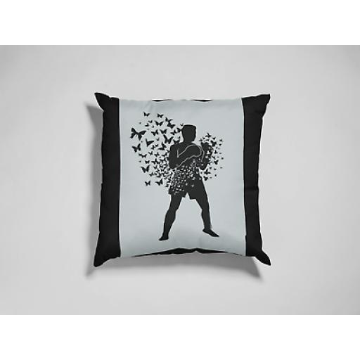 Float Like Butterfly Sting Like Bee Cushion Cover Smooth Linen Tribute To Ali