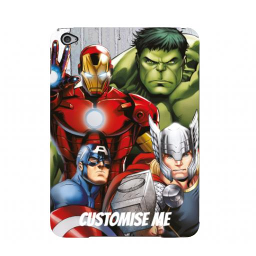 Marvel Avengers Assemble Group Scene iPad Mini 4 Clip Case