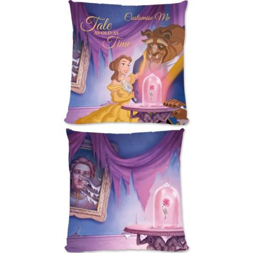 Disney Beauty And The Beast Picture Scene Small Fiber Cushion