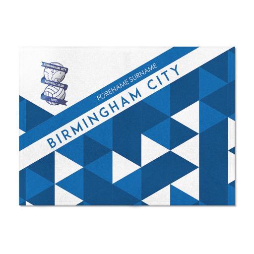 Birmingham City FC Patterned Blanket (100cm X 75cm)