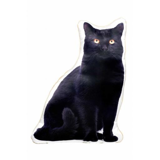 Black Cat Shaped Cushion Perfect Gift For Cat Lovers