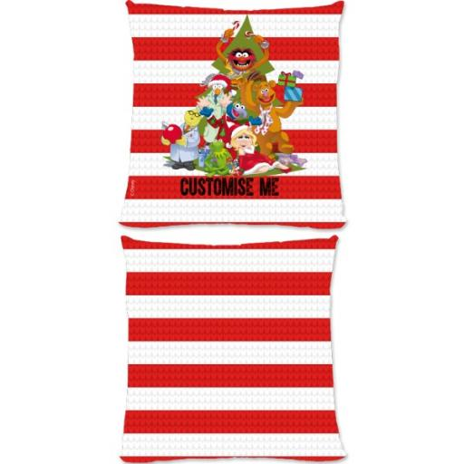 Disney The Muppets Christmas Group Small Fiber Cushion