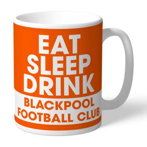 Blackpool FC Eat Sleep Drink Mug