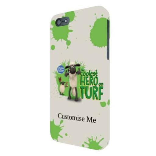 "Aardman Shaun The Sheep ""Coolest Hero On Turf"" iPhone 5/5s/5SE Clip Case"