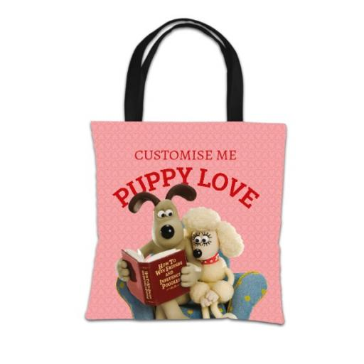 Wallace And Gromit Puppy Love Tote Bag
