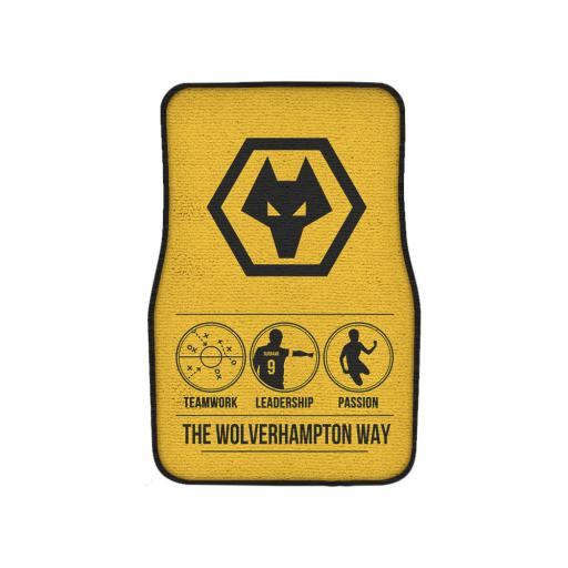 Wolves Way Front Car Mat
