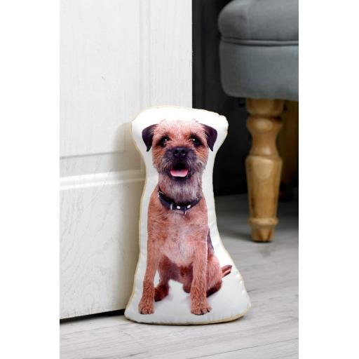Attention Border Terrier Lovers-Vivid Image Border Terrier Shaped Doorstop
