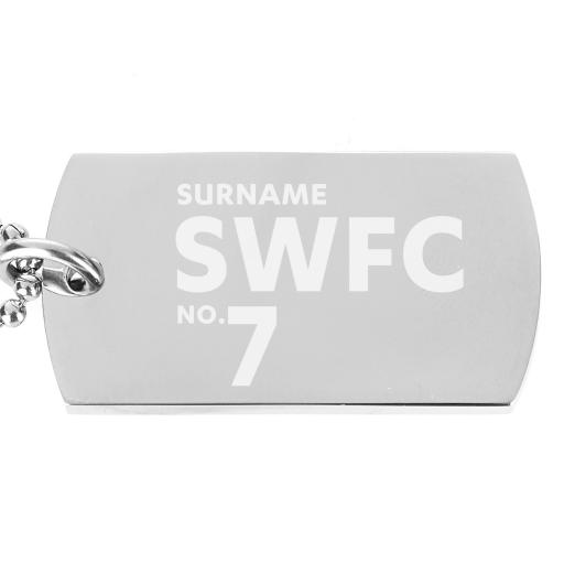 Sheffield Wednesday FC Number Dog Tag Pendant
