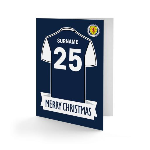 Scotland Shirt Christmas Card
