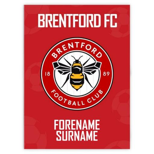 Brentford FC Crest Blanket (100cm X 75cm)